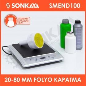 SMEND100 20-100mm Manuel Endüksiyon Emniyet Bandı Folyosu Şişe Kapatma Yapıştırma Makinası