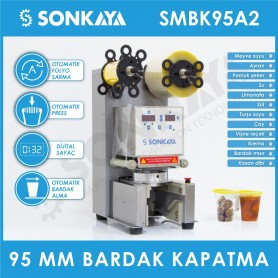 Sonkaya SMBK95A2 Semiautomatic Cup Sealing Machine 95mm