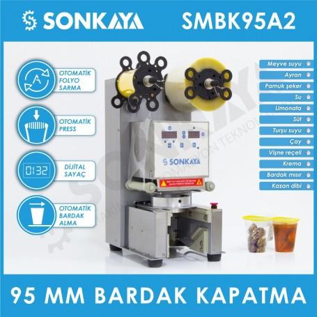 Sonkaya SMBK95A2 Yarı Otomatik Bardak Kapatma Makinası 95mm