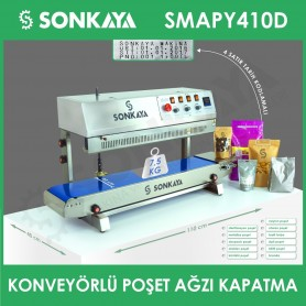 SMAPY410D Stainless Vertical Continuous Bag Sealing Machine With Coder