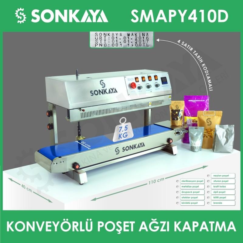 SMAPY410D Tarih Kodlamalı Konveyörlü Dikey Poşet Kapatma Makinası