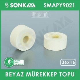 SMAPY9021 Konveyörlü Poşet Ağzı Kapatma Makinası Mürekkep Topu Beyaz 36x16mm