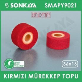 SMAPY9021 Konveyörlü Poşet Ağzı Kapatma Makinası Mürekkep Topu Kırmızı 36x16mm