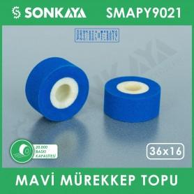 SMAPY9021 Konveyörlü Poşet Ağzı Kapatma Makinası Mürekkep Topu Mavi 36x16mm