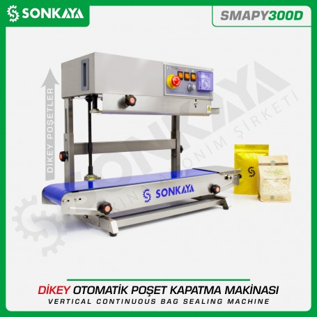 Sonkaya SMAPY300D Konveyörlü Dikey Poşet Ağzı Kapatma Makinası