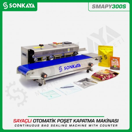 Sonkaya SMAPY300S Continuous Bag Sealing Machine With Counter
