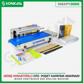 Sonkaya SMAPY300G Stainless Continuous Wide Bag Sealing Machine