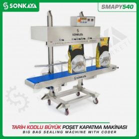 Sonkaya SMAPY540 SS Continuous Big Bag Sealing Machine With Coder