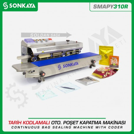 Sonkaya SMAPY310R Stainless Continuous Bag Sealing Machine With Coder