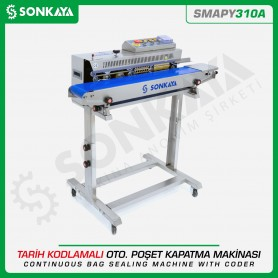 Sonkaya SMAPY310A Continuous Bag Sealing Machine With Coder and Foot