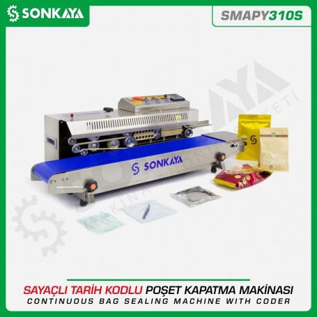 Sonkaya SMAPY310S Continuous Bag Sealing Machine With Coder & Counter