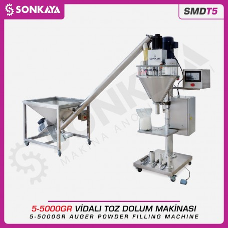 Sonkaya SMDT5 Auger Powder Filling Machine 5g-5000g