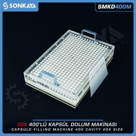 Sonkaya SMKD400M Manual Capsule Filling Machine 400 Cavity 00 Size