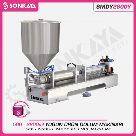 Sonkaya SMDY2800Y Semi Automatic Paste Filling Machine 2800ml