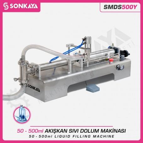 Sonkaya SMDS500Y Yarı Otomatik Akışkan Sıvı Dolum Makinası 500ml