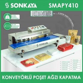 SMAPY410 Tarih Kodlamalı Konveyörlü Poşet Kapatma Makinası