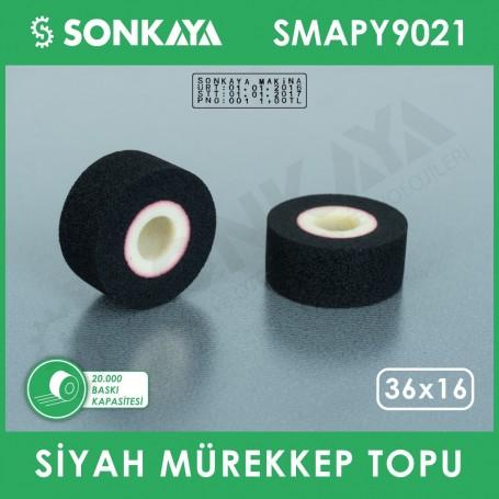 SMAPY9021 Konveyörlü Poşet Ağzı Kapatma Makinası Mürekkep Topu Siyah 36x16mm