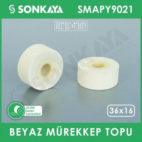 SMAPY9021 Bag Sealing Machine Hot Ink Roller White 36x16mm