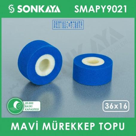SMAPY9021 Bag Sealing Machine Hot Ink Roller Blue 36x16mm