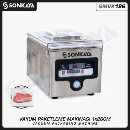Sonkaya SMVK126 Vakum Makinası Masaüstü 26cm 5mm