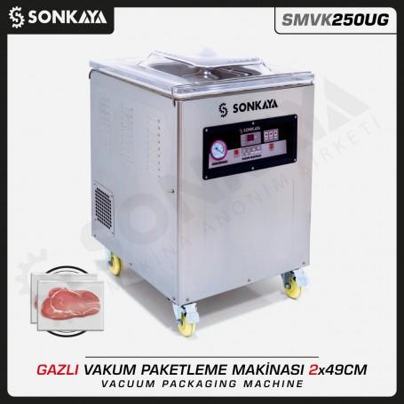 Sonkaya SMVK250UG Azotlu Gazlı Vakum Makinası Çift Çeneli 2x49cm 10mm
