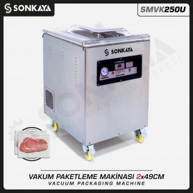 SMVK250U Vacuum Sealing Machine  Double Bar 2x49cm 10mm