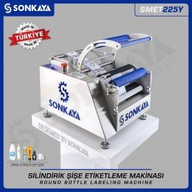 Sonkaya SMET225Y Yarı Otomatik Silindirik Şişe Etiketleme Makinası