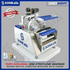 Sonkaya SMET225YT Semiauto Bottle Labeling Machine With Coder