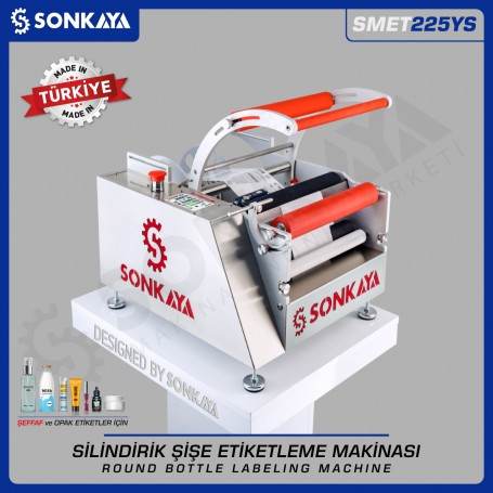 Sonkaya SMET225YS Semiauto Bottle Labeler for Transparent Labels