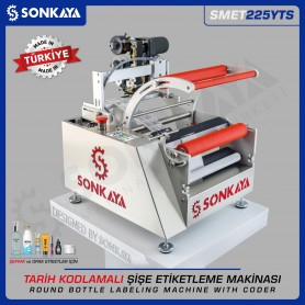 Sonkaya SMET225YTS Clear Label Round Bottle Labeling Machine wth Coder