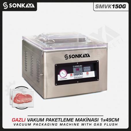 SMVK150G Azotlu Gazlı Vakum Makinası 49cm 10mm