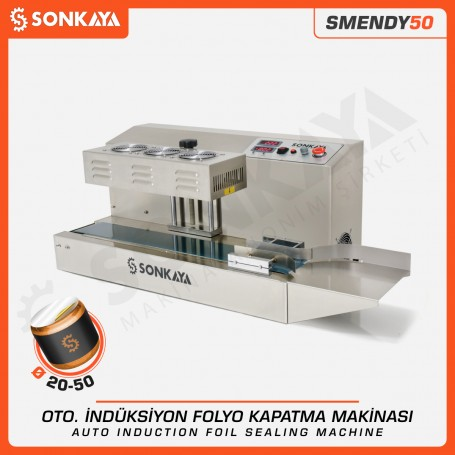 Sonkaya SMENDY50 Yarı Otomatik İndüksiyon Folyo Kapatma Makinası