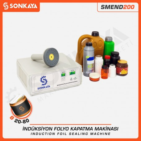 SMEND200 20-80mm Manual Induction Folio Bottle Sealing Machine