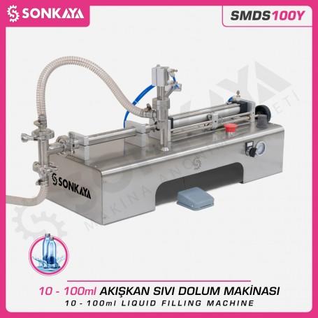 Sonkaya SMDS100Y Yarı Otomatik Akışkan Sıvı Dolum Makinası 100ml