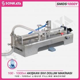 Sonkaya SMDS1000Y Yarı Otomatik Akışkan Sıvı Dolum Makinası 1000ml