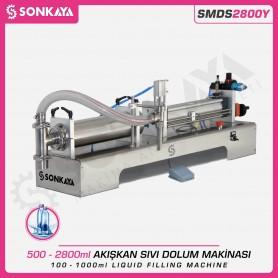 Sonkaya SMDS2800Y Yarı Otomatik Akışkan Sıvı Dolum Makinası 2800ml