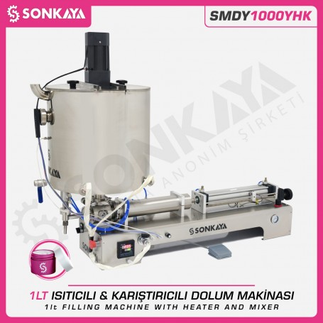 Sonkaya SMDY1000YHK Filling Machine With Heater & Mixer 1 Liter