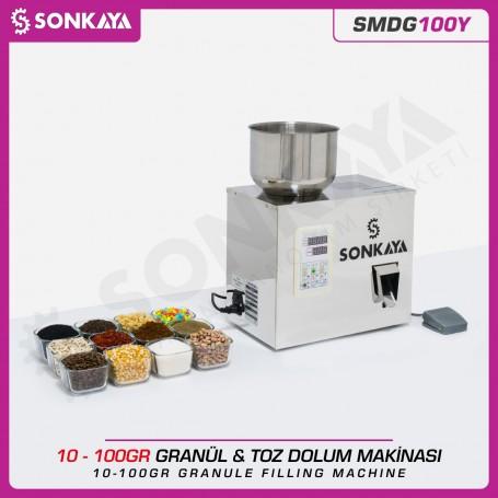 SMDG100Y 2-100gr Semiauto. Granule & Powder Filler