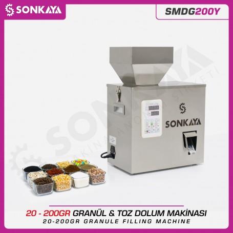 SMDG200Y 10-200gr Semiauto. Granule & Powder Filler