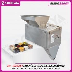 SMDG2500Y 20-2500gr Semiauto. Granule & Powder Filler