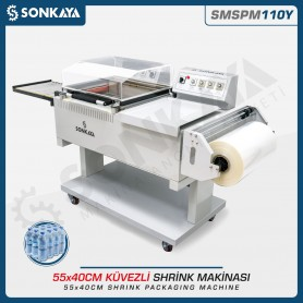 Sonkaya SMSPM110Y Shrink Packaging Machine 55x40cm With Conveyor