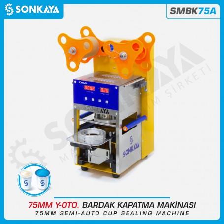 Sonkaya SMBK75A Yarı Otomatik Bardak Kapatma Makinası 75mm