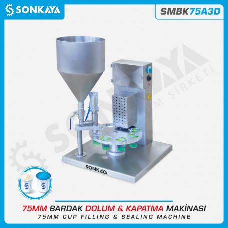 Sonkaya SMBK75A3D Ayran Cup Sealing Machine 75mm