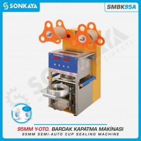 Sonkaya SMBK95A Semiautomatic Cup Sealing Machine 95mm