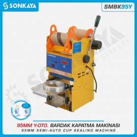 Sonkaya SMBK95Y Semiautomatic Cup Sealing Machine 95mm