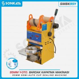 Sonkaya SMBK95Y Yarı Otomatik Bardak Kapatma Makinası 95mm