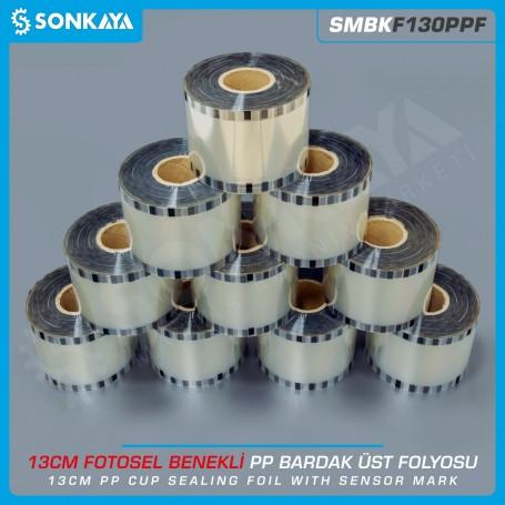 Sonkaya SMBKF130PPF Fotosel Benekli Polipropilen Bardak Üst Folyosu Şeffaf 13cm