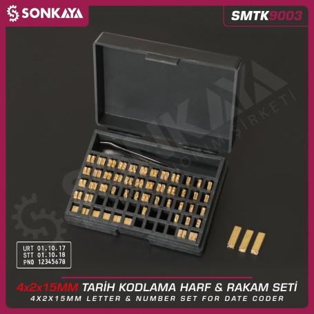Sonkaya SMTK9003 Tarih Kodlama Pirinç Rakam ve Harf Seti