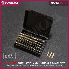 Sonkaya SMTK9012 Brass Letter and Number Set for Coders 3mm