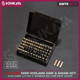 Sonkaya SMTK9012 Tarih Kodlama Pirinç Rakam ve Harf Seti 3mm